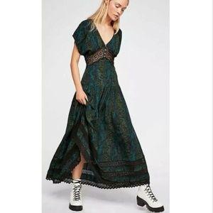 *NWOT* Free People Prairie Flower Maxi Dress
